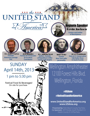 United stand for America flyer