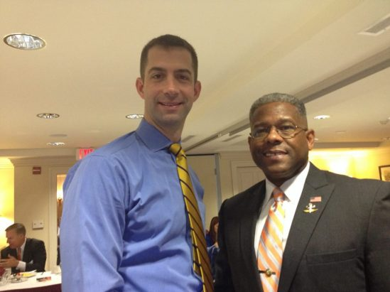 Rep. Tom Cotton with LTC Allen West